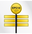 Modern yellow traffic sign vector