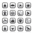 Space and universe icons vector