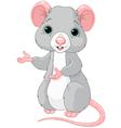 Cute cartoon rat vector