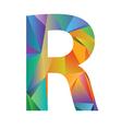 Letter r vector