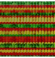 Knitted pattern with rastafarian stripes vector