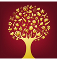 Icon tree vector