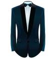 Striped tuxedo vector