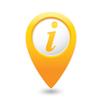 Information icon yellow map pointer vector