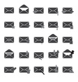 Computer mail simple gray icons eps10 vector
