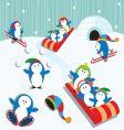 Penguin fun vector