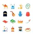 Arabic culture icon flat vector
