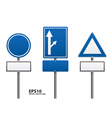Traffic sign blue color vector