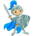 Fighting brave knight vector