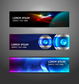 Collection abstract banner design horizontal vector