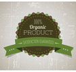 Organicy retro label round green vector
