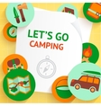 Camping background template vector