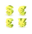Currencies symbols vector