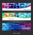 Collection abstract banner design horizontal vector