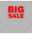 Big sale isolated over white background vector