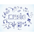 Background with music elements vector