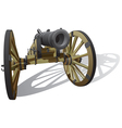 Ancient field gun vector