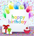 Color birthday card vector