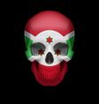 Burundian flag skull vector