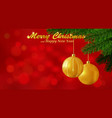 Merry christmas red background vector