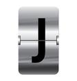 Alphabet silver flipboard letters j vector