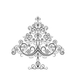 Openwork christmas tree with snowflakes vector