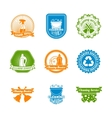 Set of cleaning color label vector