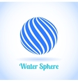 Abstract water sphere globe symbol vector