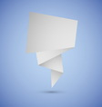 Abstract origami speech background on blue vector