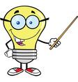 Light bulb geek cartoon vector