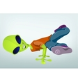 Cartoon break dance alien vector