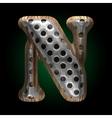 Metal and wood figure n vector