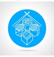 Sushi menu blue icon vector