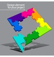Puzzle element for your project vector