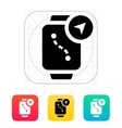 Navigation and gps in smart watch icon vector