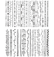 Hand drawn line border set vector