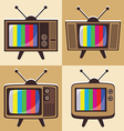Set of classic television 2 vector
