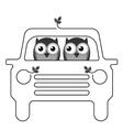 Owl car vector