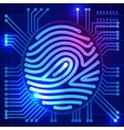 Fingerprint security system vector