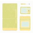 Kitchen appliances set vector