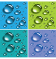 Colorful water drops vector