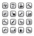 Building and construction work tool icons vector