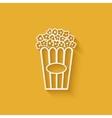 Popcorn design element vector