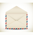 Open vintage envelope vector