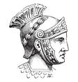 Roman centurion engraving vector