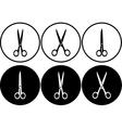 Scissors set in frame vector