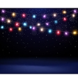 Christmas light background vector