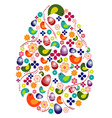 Colorful egg shape vector