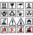 Warning of packaging symbol vector
