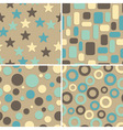 Four retro abstract seamless patterns vector